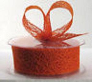 38mm Mesh Ribbon - Orange - 1/5/10/20 metre/roll wedding / craft / invitation