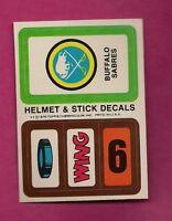 1979-80 TOPPS BUFFALO SABRES  HELMET AND STICK DECALS INSERT NRMT (INV# 8249)
