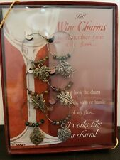 6 Wine Glass Charms Fall Leaves - Holiday Gift Idea or Thanksgiving Table Decor