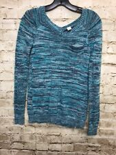 Ivivva By Lululemon Sweater Top Pocket Size 10 Girls Blue Multicolor