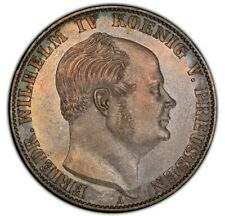 PRUSSIA 1859 A Thaler, PCGS MS65, Subtle Toning, Conditional Rarity !
