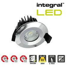 Integral LED Dimmable IP65 Low Profile Fire Rated Downlight 6 Watt 3000K Chrome