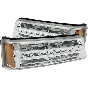 Anzo Parking/signal Lights Chrome G2 Amber For Chevy Silverado/Avalanche 03-06