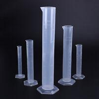 5x Messzylinder aus Kunststoff 10ml / 25ml / 50ml / 100ml / 250ml