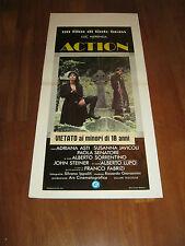 LOCANDINA,ACTION TINTO BRASS LUC MERENDA A.LUPO,ASTI  1980