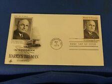 Scott #1499 8 Cent Stamp In Memoriam Harry S. Truman First Day Issue
