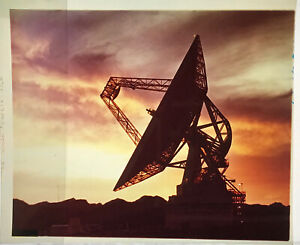 SPACE TRACKING / Orig 4x5 NASA Issued Transparency - 85 Ft. Dish Antenna