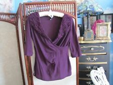 Anthropologie one september  3/4 sleeve cranberry blouse P