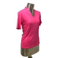 Emreco NEW Ladies/Womens Pink Cotton T-Shirt Top UK Size 14 (EU 42) RRP £22
