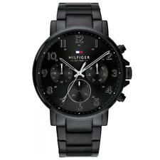 Tommy Hilfiger Daniel Black Steel Day Date Mens Watch 1710383