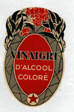 ETIQUETTE ANCIENNE de VINAIGRE d'ALCOOL Coloré
