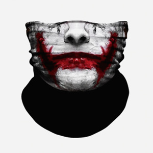 Joker Style Face Mask, Snood, Neck Warmer