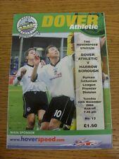 23/11/2004 dover Athletic V HARROW Borough. condizione: aspiriamo a ispezionare al