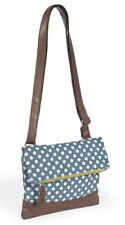 The Quintessential Ladies Dotty Cross Body Hand Bag Blue & White Polka Dot
