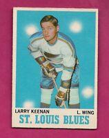 1970-71 OPC  # 104 BLUES LARRY KEENAN VG CARD (INV#3933)