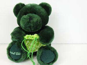 "Marshall Field's Emerald Green Teddy Bear Plush 14"" w/ Frango Lace Gift Bag"
