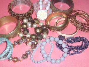 1 x Single Bracelet Bangle Menu Choice ~ Vintage BOHO Folk Retro Modernist
