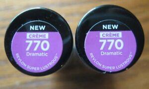 Two Revlon Super Lustrous Creme Lipstick  770 Dramatic  Free Ship
