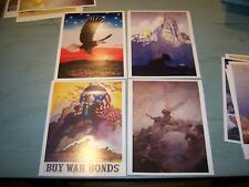 Set/4 Americana Prints by NC Wyeth Our Emblem War Bonds Bloody Angle O'Captain