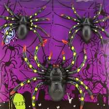 50pk  Black Spiders and Stretchable Web Halloween Haunted House Decoration Toy