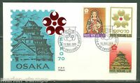 VATICAN CITY 1970 OSAKA EXPO  SCOTT#479/81 SILIGATO FIRST DAY COVER