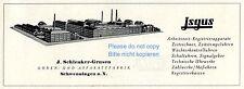 Uhren & Apparate Schlenker Grusen Schwenningen Reklame von 1958 Isgus Jsgus ad