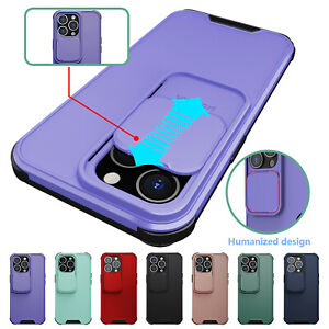 Case For iPhone 13 Pro Max 13 Slide Lens Protection Shockproof Phone Back Cover