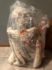 "Rare John Derian 63"" Long Lost Friend Lifesize Skeleton Shaped Halloween Pillow"