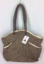 Murval Stella Tote Brown & Gold With Side Pockets NWT