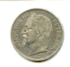 5 francs argent Napoléon III 1869 BB n°E846