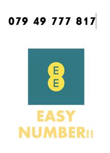 EE Network Trio Sim Card Easy Number Platinum Gold Vip Memorable 079 49 777 817