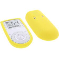 Tasche für Sanitas SEM 43 - EMS/TENS Reizstromgerät  Schutz Hülle Silicon Gelb