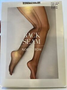 Nordstrom Back Seam  Sheer  Pantyhose Size A Light Nude