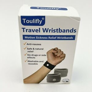 Travel Motion Sickness Relief Wrist Bands Family Four Pairs Eight Bands Nausea