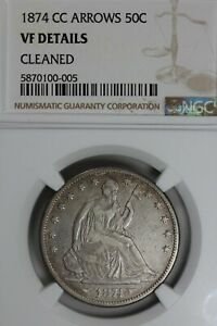 1874-CC .50  NGC  VF DETAILS ARROWS CLEANED Liberty Seated Half, 50 Cents