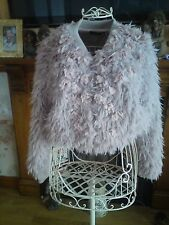 """Feather Pink Cropped Jacket  Size UK M/L , RP : £250 """" Sale Price Reduced """""""