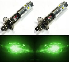LED 30W H1 Green Two Bulbs Head Light Replacement Show Use High Beam Lamp