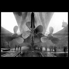 Photo B.004005 RMS TITANIC PROPELLERS WHITE STAR LINE BELFAST SHIPYARD PAQUEBOT