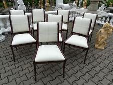 Lederstuhl Set 8x Stuhl Stühle Polster Lehn Klassische Garnitur Sofort lieferbar