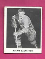 RARE 1965-66 COCA COLA CANADIENS RALPH BACKSTROM CARD (INV# C9711)
