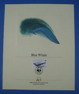 World Wildlife Fund WWF Blue Whale $9 Chile Stamp Proof Edition 1984