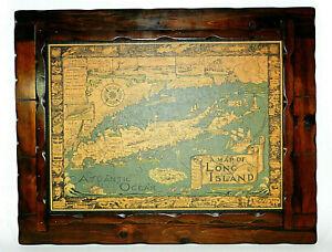 Map of Long Island New York Framed