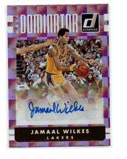 JAMAAL WILKES 2016-17 DONRUSS BASKETBALL HALL DOMINATOR GOLD AUTO /10