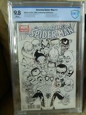 The Amazing Spider-Man #1, CBCS 9.8, Kevin McGuire b/w variant, Marvel, 2014