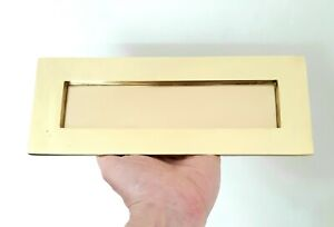 Large Edwardian / Art Deco Style Letter Box - Solid Brass