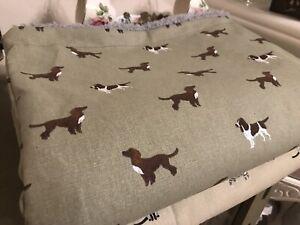 Sophie Allport SPANIELS Cocker/Springer/Cavalier Dog Bed Blanket/Mat - Hand made