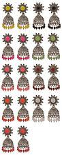 Jwellmart Indian Traditional Bollywood Silver CZ Jhumka Jhumki Fashion Earrings