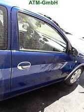 Tür Opel Corsa C 3 türig rechts Farbcode Z21B Farbe Ultrablau Blau