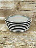 "Noritake Stoneware Painted Desert   8"" salad Luncheon Plates  8603 Japan"