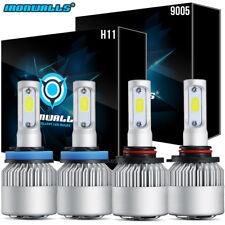 2Pair OSLAMP 9005 + H11 Combo Total 2040W 306000LM LED Headlight Kit Bulbs 6000K